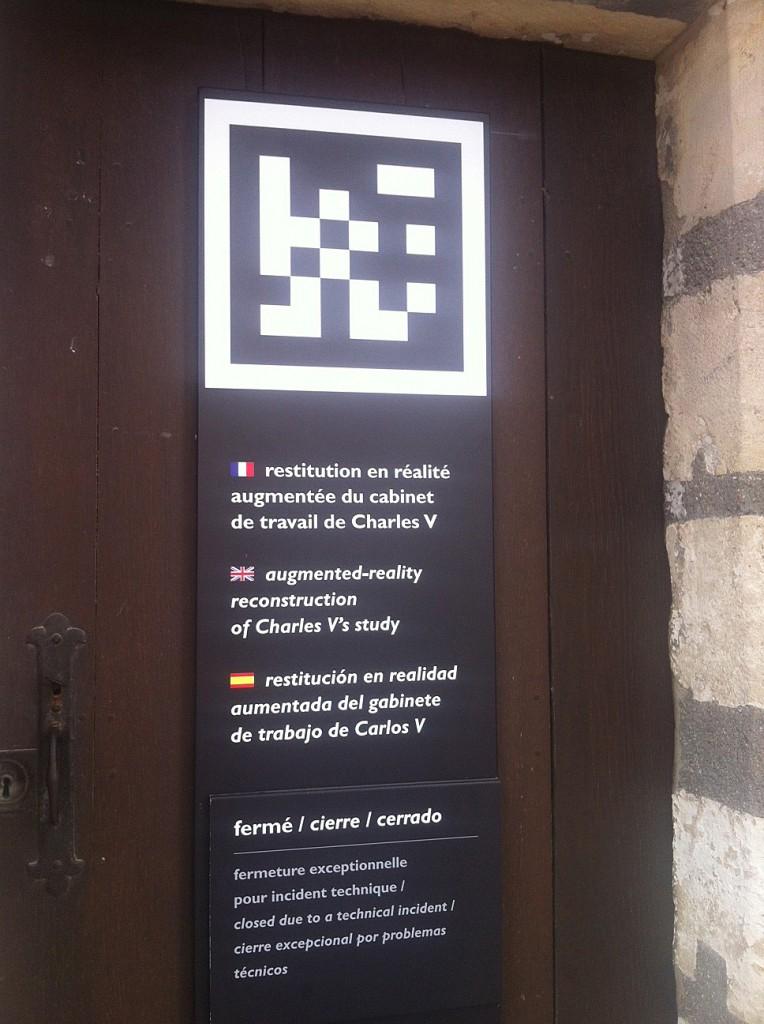 Chateau de Vincennes - Réalité augmentée - Flashcode - région parisienne