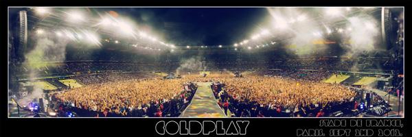 Coldplay - Paris - Stade de France 2012 - Panorama