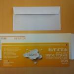invitation et enveloppe personnalisée extra longue