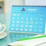 calendrier de bureau avec spirale